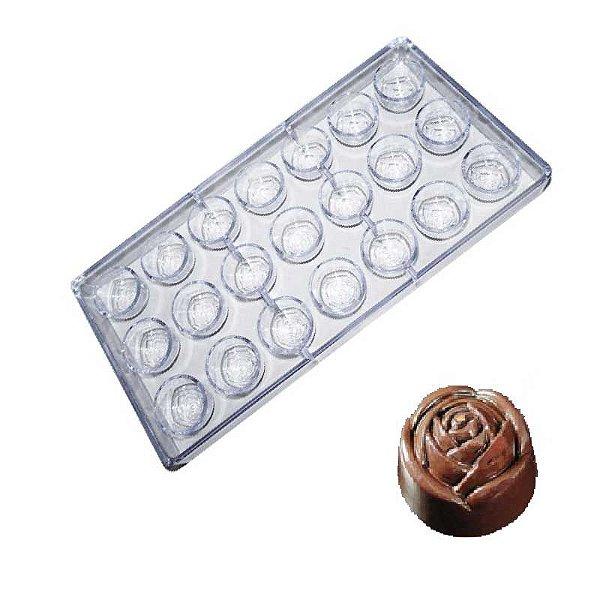 Forma para Chocolate em Plástico Resistente Rosa Prime Chef Rizzo Confeitaria