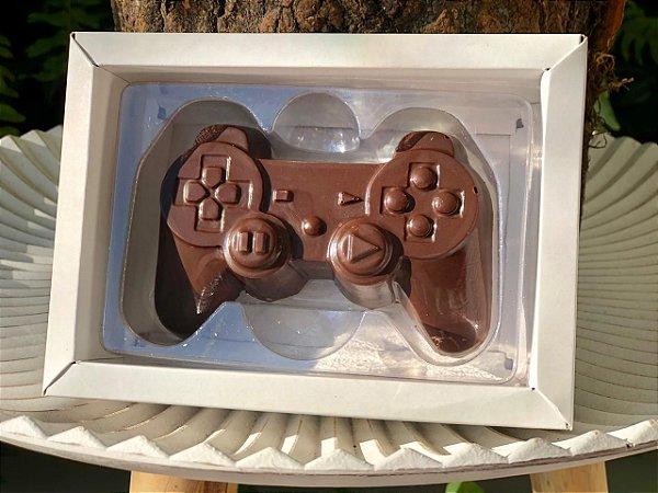 Caixa Controle Video Game 1 cav. Branca com 5 un. Crystal Rizzo Confeitaria