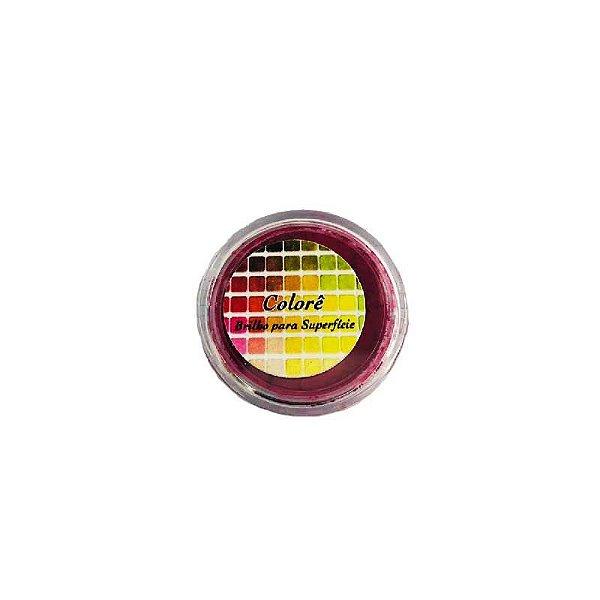 Pó para decoração, brilho para Superfície Colorê Magenta Fluor 2g LullyCandy Rizzo Confeitaria