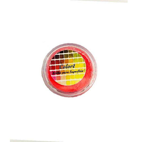 Pó para decoração, brilho para Superfície Colorê Coral Fluor 2g LullyCandy Rizzo Confeitaria
