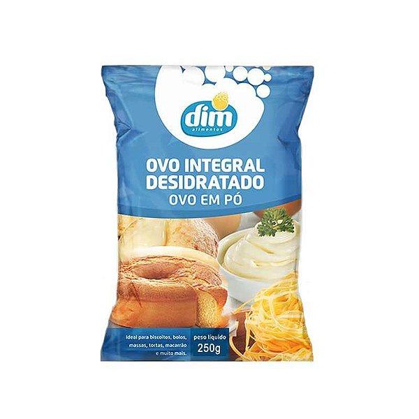 Ovo Integral Desidratado em Pó 250g Dim Alimentos Rizzo Confeitaria