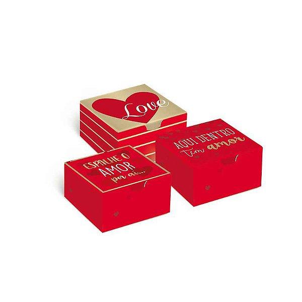 Caixa Divertida Amor 4 doces com 10 un. Sortidas Cromus Rizzo Confeitaria
