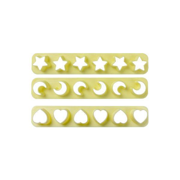 Kit Réguas Miniaturas I com 3 un. Blue Star Rizzo Confeitaria