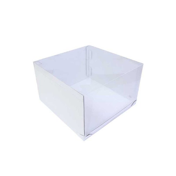 Caixa Transporte para Bolo 32,5 X 32,5 X 20 cm Branca com 1 un Eluhe Rizzo Confeitaria