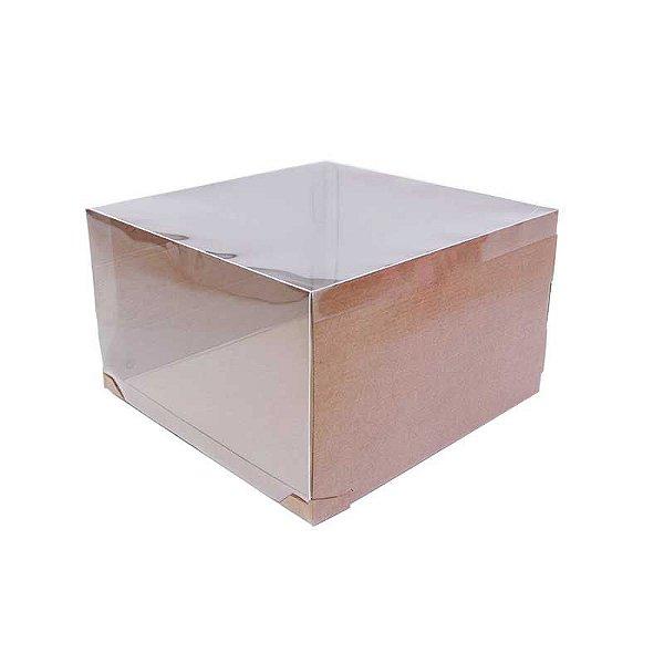 Caixa Transporte para Bolo 32,5 X 32,5 X 20 cm Kraft com 1 un Eluhe Rizzo Confeitaria