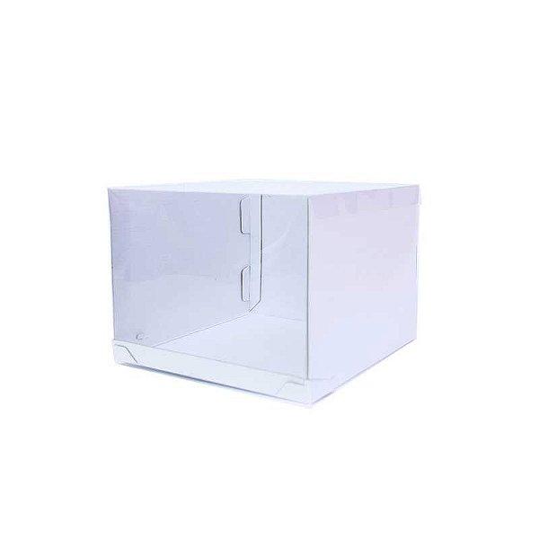 Caixa Transporte para Bolo 26,5 X 26,5 X 20 cm Branca com 1 un Eluhe Rizzo Confeitaria