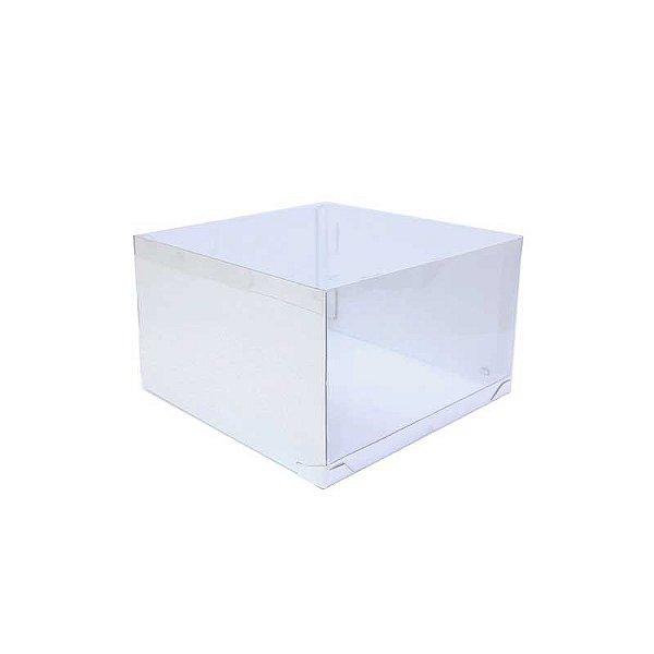Caixa Transporte para Bolo 32,5 X 32,5 X 20 cm Branca com 5 un Eluhe Rizzo Confeitaria
