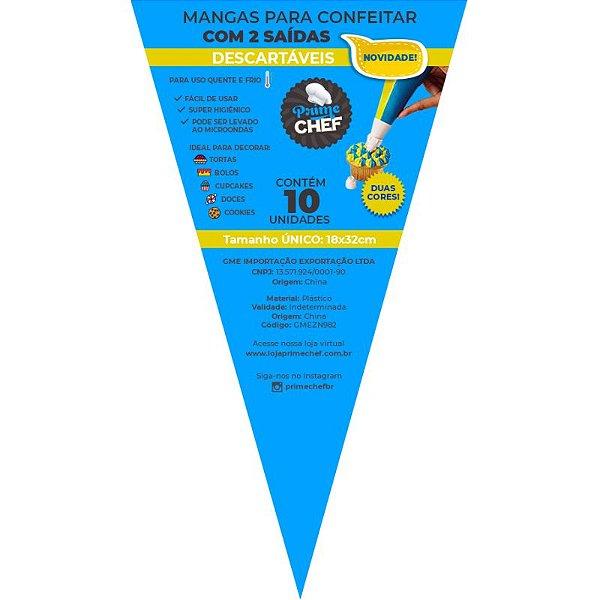 Saco para Confeitar Duplo - 10 unidades - Prime Chef - Rizzo Confeitaria
