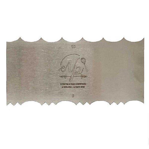 Espátula Decorativa para Bolo em Inox Mod. 9 e 10 NP Rizzo Confeitaria