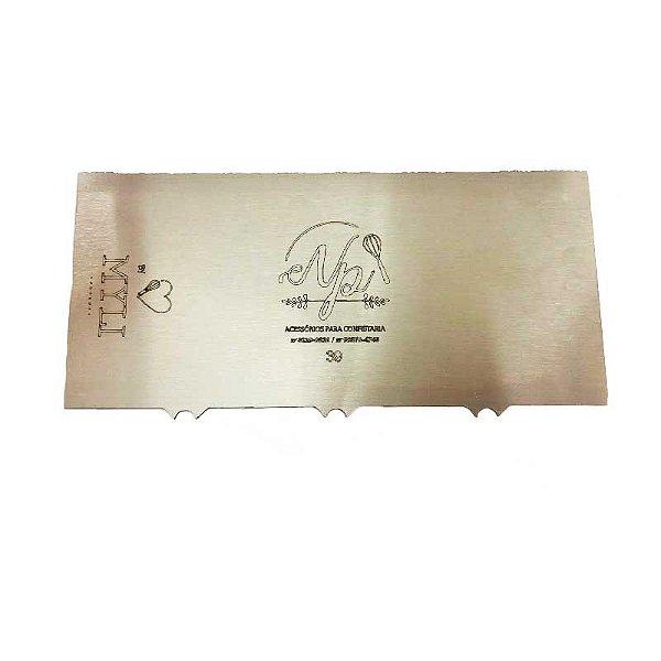 Espátula Decorativa para Bolo em Inox Mod. 39 NP Rizzo Confeitaria
