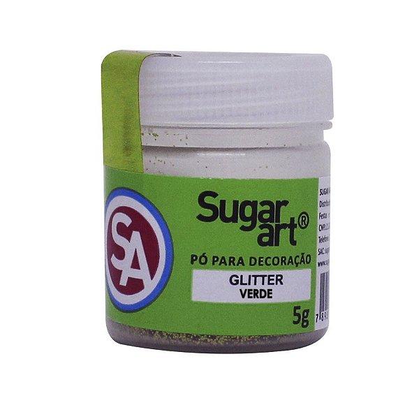 Pó para Decoração Gliter Verde 5g Sugar Art Rizzo Confeitaria