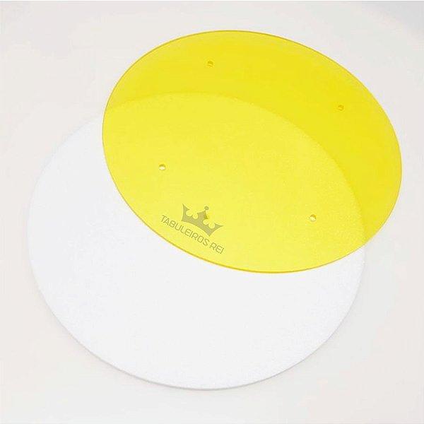 Disco para Acabamento com Ganachê Amarelo 26cm Tabuleiros Rei Rizzo Confeitaria