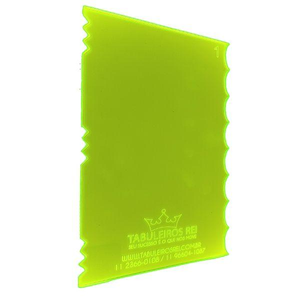 Espátula Decorativa Ref 1 20x12 Tabuleiros Rei Rizzo Confeitaria