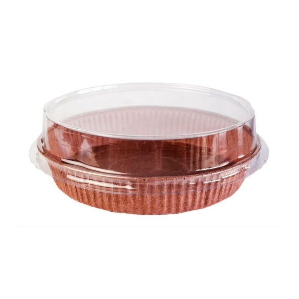 Forma para Torta M com Tampa 5 un. Ecopack Rizzo Confeitaria