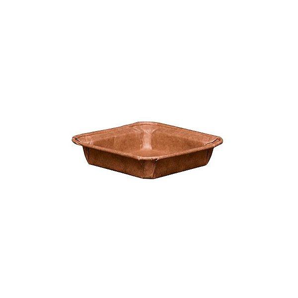 Forma Quadrada para Brownie P sem tampa 10 un. Ecopack Rizzo Confeitaria
