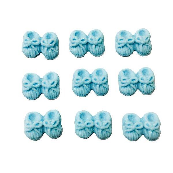 Confeitos Comestíveis Sapatinho Azul - Flores e Encantos de Açúcar Rizzo Confeitaria