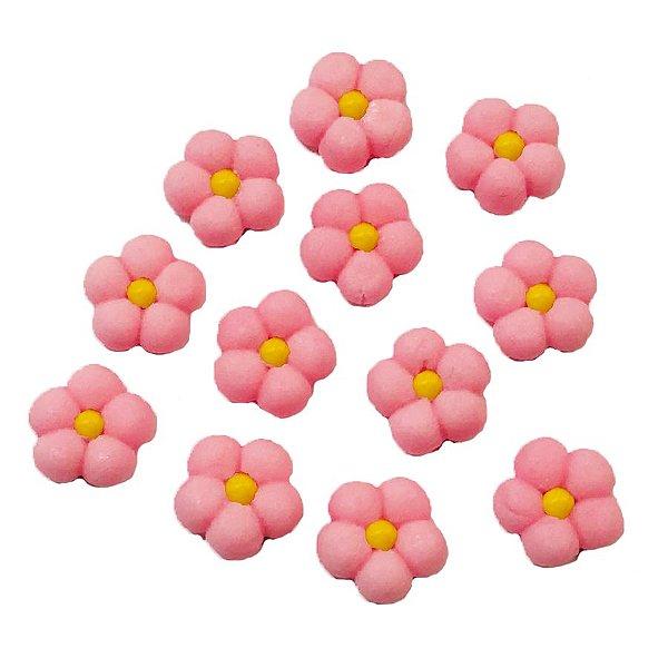 Confeitos Comestíveis Flor Cheia M Rosa e Amarela - Flores e Encantos de Açúcar Rizzo Confeitaria
