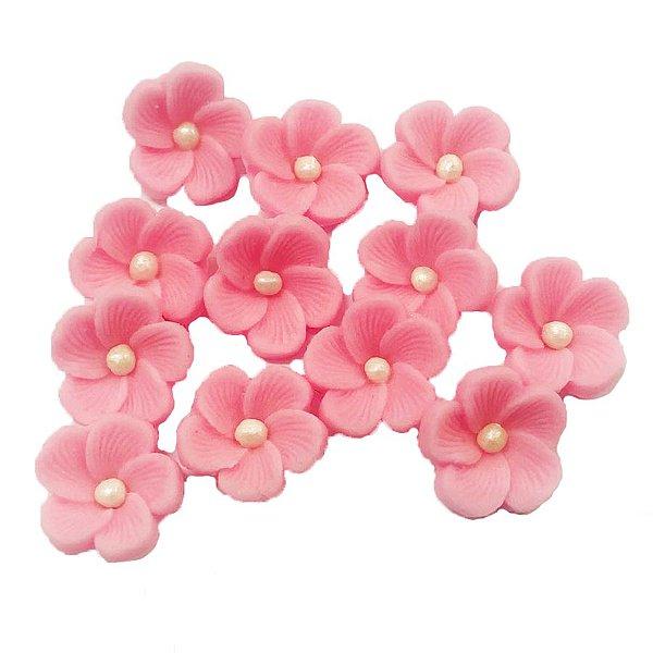 Confeitos Comestíveis Flor 1 Rosa - Flores e Encantos de Açúcar Rizzo Confeitaria