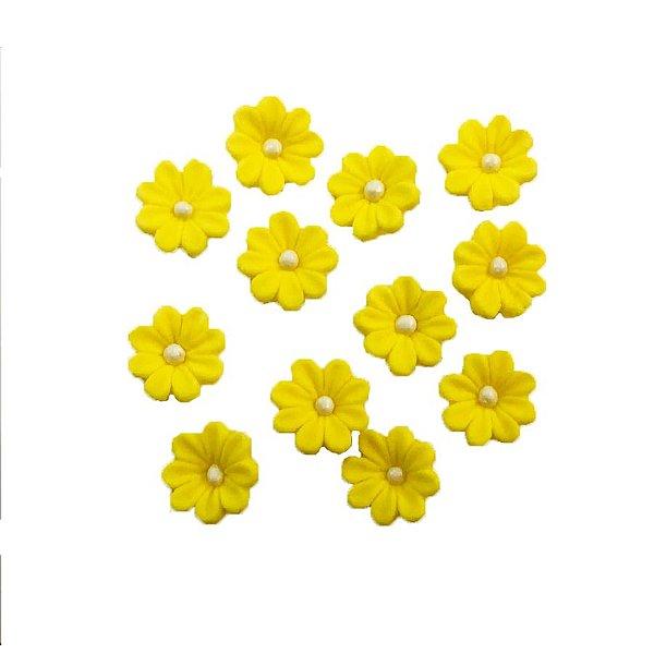 Confeitos Comestíveis Flor Amarela - Flores e Encantos de Açúcar Rizzo Confeitaria