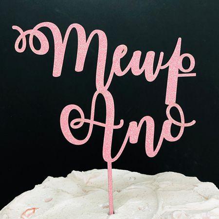 Topo de Bolo Meu 1º Ano Glitter Rosa Sonho Fino Rizzo Confeitaria