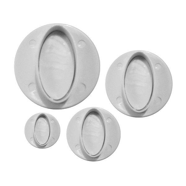 Ejetor de Oval 4 peças Rizzo Confeitaria