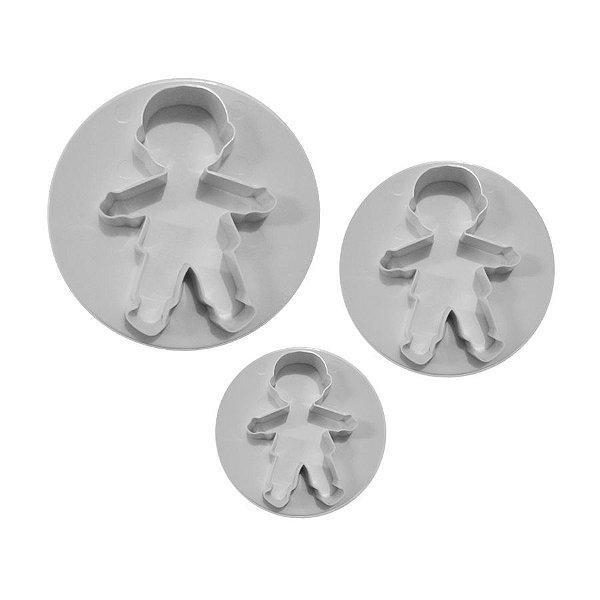 Marcador Cortador Bonecos com 3 peças Rizzo Confeitaria