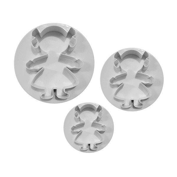 Marcador Cortador Bonecas com 3 peças Rizzo Confeitaria