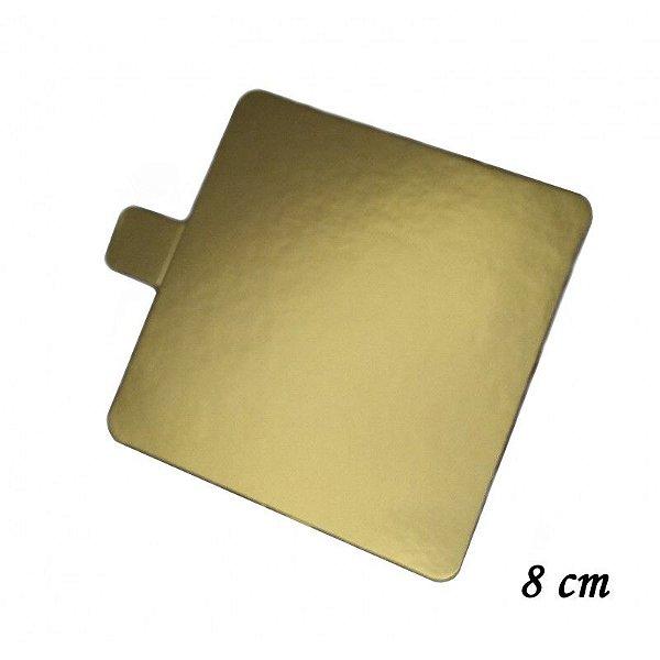 Base Quadrada Ouro 8 cm com 30 unidades Prime Chef Rizzo Confeitaria