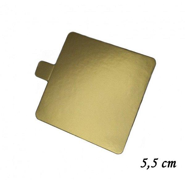 Base Quadrada Ouro 5,5 cm com 30 unidades Prime Chef Rizzo Confeitaria