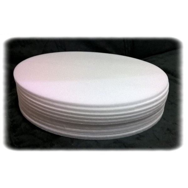 Base de Isopor 16 cm com 10 unidades Tabuleiros Rei Rizzo Confeitaria