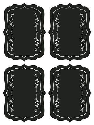 Etiqueta Adesiva Lousa Moldura 017 com 4 unidades LitoArte Rizzo Confeitaria