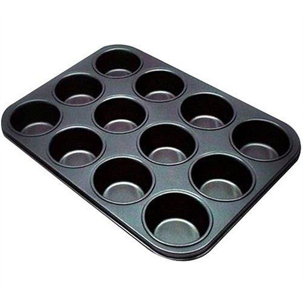 Forma Antiaderente para Cupcake com 12 cavidades Rizzo Confeitaria