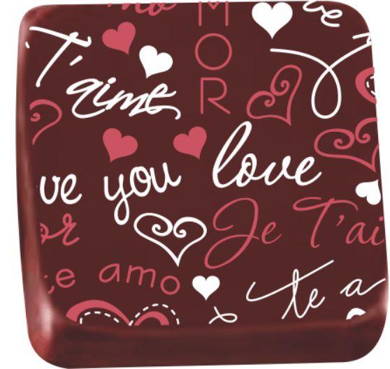 Transfer para Chocolate Love You TRG 8070 18 Stalden Rizzo Confeitaria
