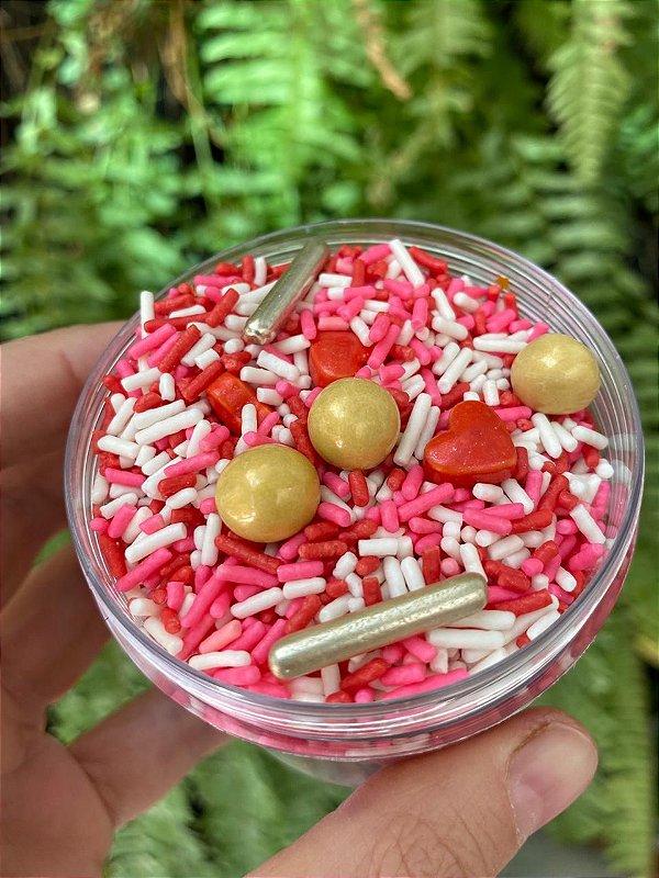 Fairy Sprinkles Granulado Especial Rosa Coração150 gr Rizzo Confeitaria