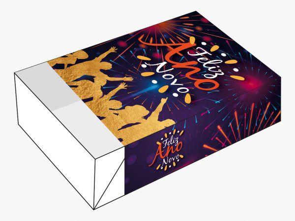 Caixa Divertida Feliz Ano Novo Fogos Ref. 1154 - 6 doces com 10 un. Erika Melkot Rizzo Confeitaria