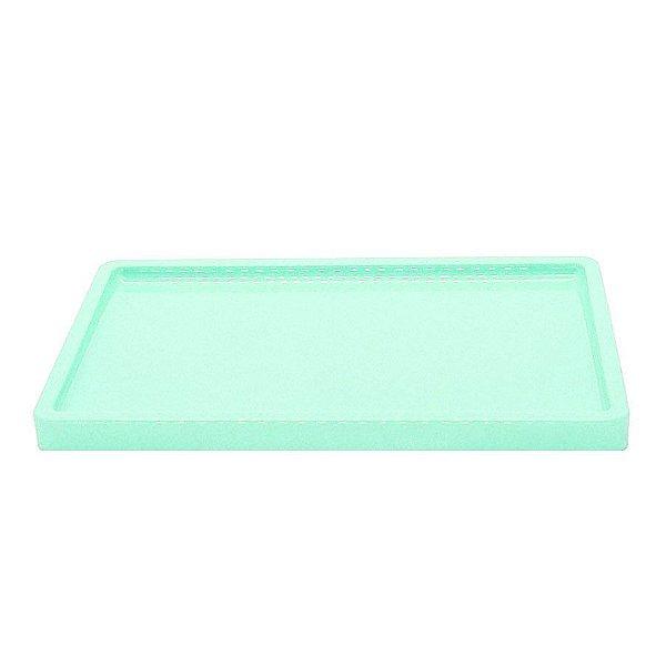Bandeja Retangular Verde Agua BD-R 300X180 Só Boleiras Rizzo Confeitaria