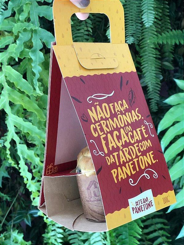 Sacola de Papel para Panetone 100g com 10 un. Sulformas Rizzo Confeitaria