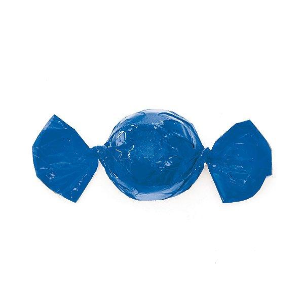 Embalagem Mini Trufa - 12x12,5cm - Azul - 100 unidades - Cromus Páscoa 2020 - Rizzo Confeitaria