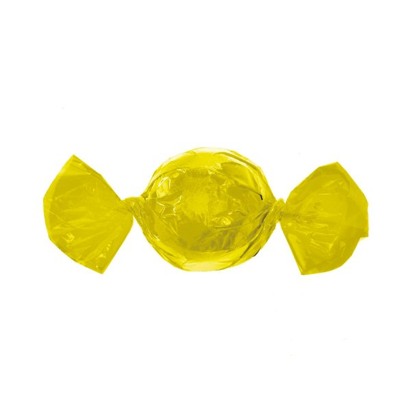 Embalagem Trufa - 15x16cm - Amarelo - 100 unidades - Cromus Páscoa 2020 - Rizzo Confeitaria