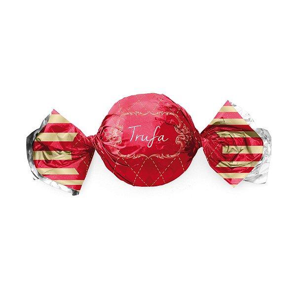 Embalagem Trufa 15x16cm - Vichy Vermelho - 100 unidades - Cromus - Rizzo Confeitaria