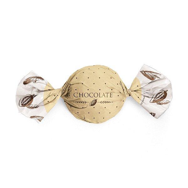 Embalagem Trufa 15x16cm - Cacau Ouro - 100 unidades - Cromus - Rizzo Confeitaria