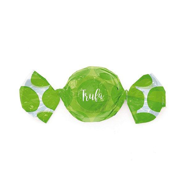 Embalagem Trufa 20x18cm - Gran Poá Verde - 100 unidades - Cromus - Rizzo Confeitaria