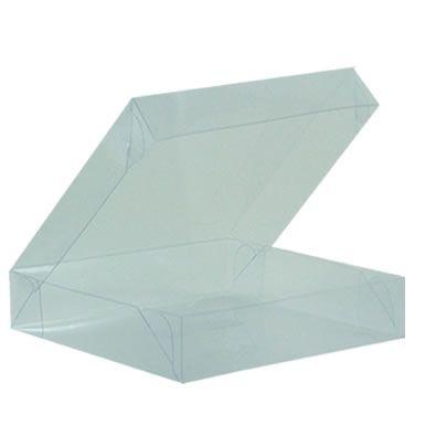 Caixa de Acetato Transparente M08 (12x12x2,5cm) - 20 unidades - CAC - Rizzo Confeitaria