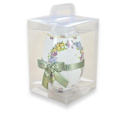 Maleta de Acetato Transparente para Ovo de Pascoa - 500g - 22x14,5x14,5cm - 10 unidades - CAC - Rizzo Confeitaria