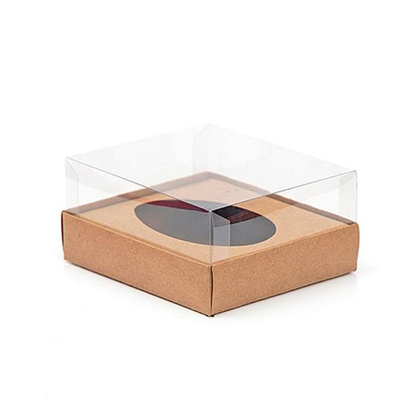 Caixa Ovo de Colher - Meio Ovo de 100g a 150g - 11cm x 12,7cm x 7,5cm - Kraft - 5unidades - Assk - Páscoa Rizzo Confeitaria