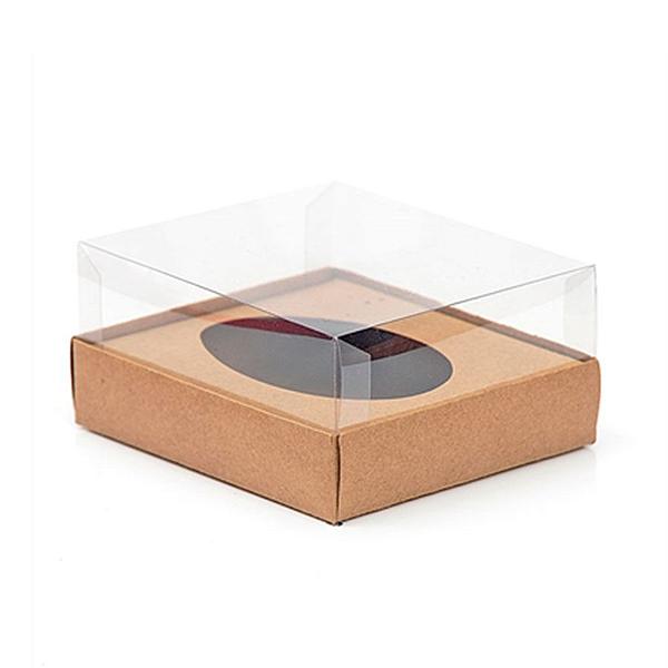 Caixa Ovo de Colher - Meio Ovo de 250g - 15cm x 13cm x 6,5cm - Kraft - 5unidades - Assk - Páscoa Rizzo Confeitaria