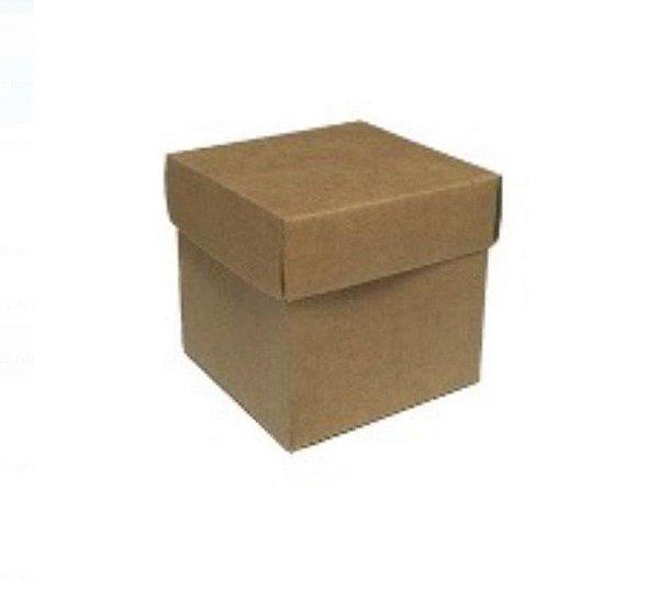 Caixa Cubo (4cm x 4cm) Kraft 10 unidades Assk Rizzo Confeitaria