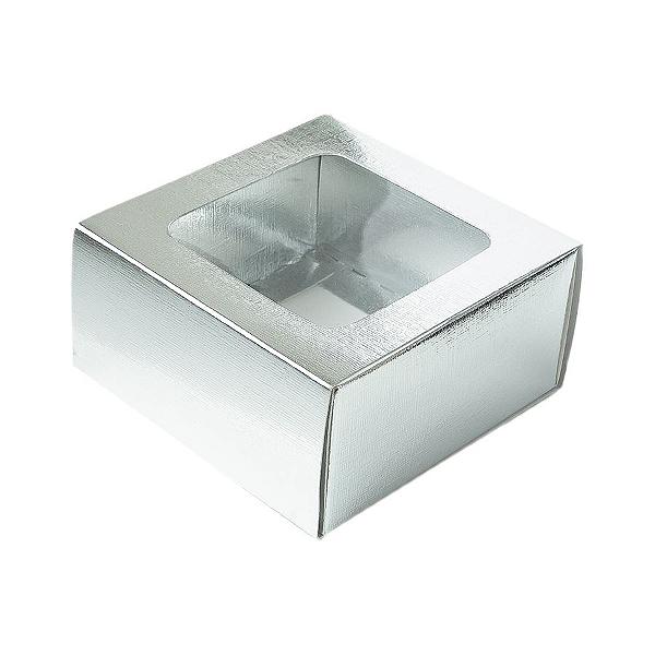 Caixa Gaveta com Visor Nº1 (8cm x 8cm x 4cm) Prata 10 unidades Assk