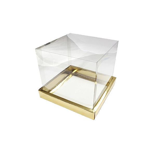 Caixa para Panetone 100g (10cm x 10cm x 10cm) Dourada 10 unidades Assk Rizzo Confeitaria
