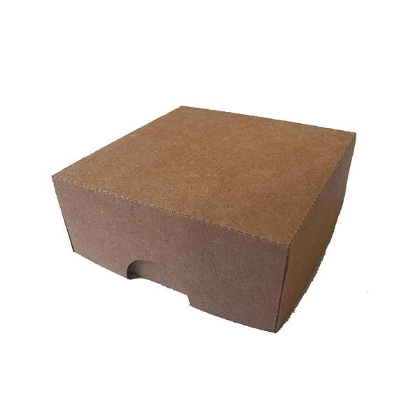 Caixa S16 (7cm x 7cm x 3cm) Kraft 10 unidades Assk Rizzo Confeitaria
